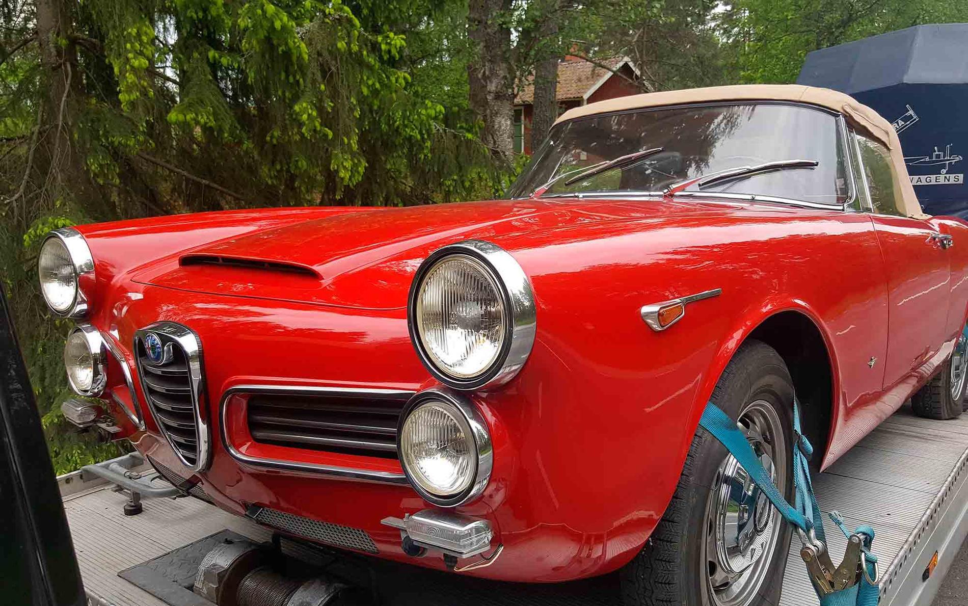 Givet samlarobjekt: En Alfa Romeo 2600 Spider från 1964.