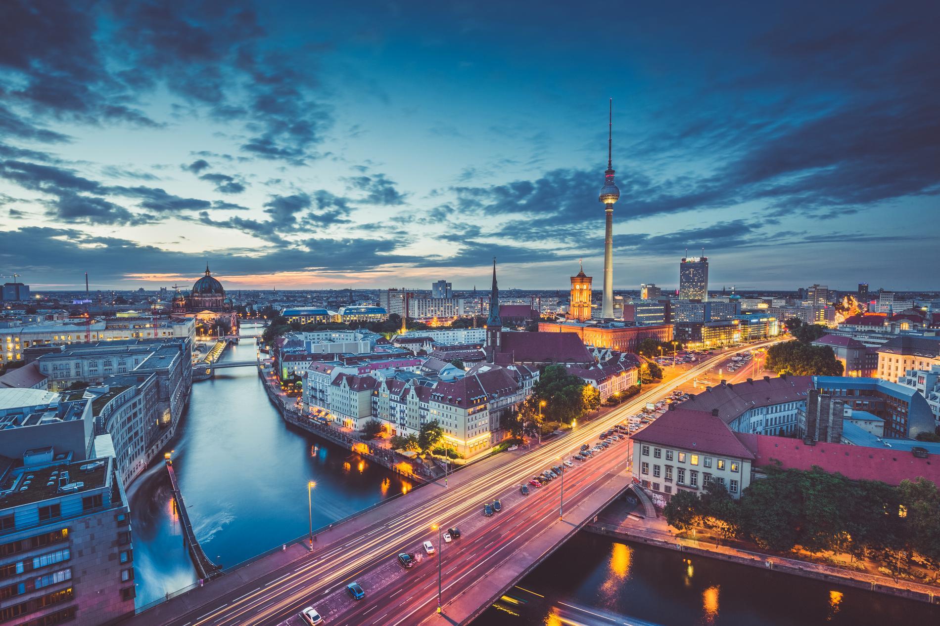 Utsikten från TV-tornet i Berlin är ganska maffig.