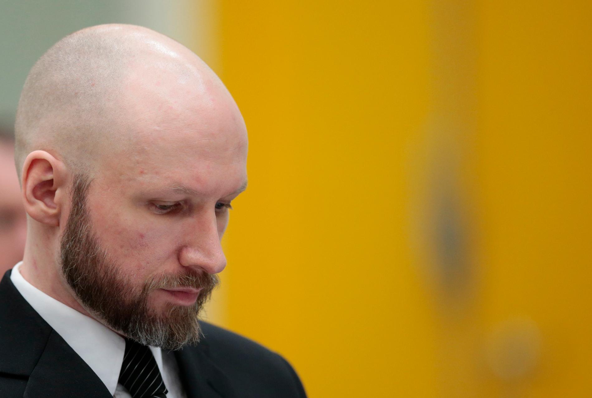 Högerextrema terroristen Anders Behring Breivik.