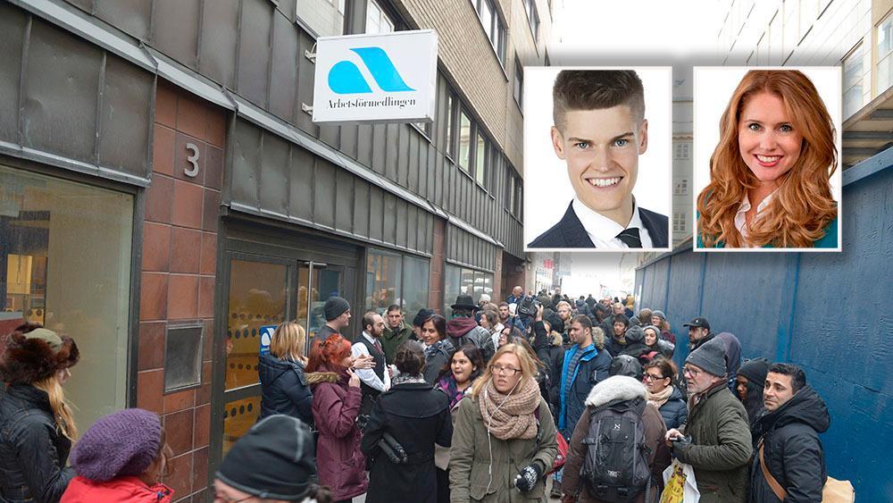 Coronakrisen övergår nu alltmer i en arbetslöshetskris, men istället för nödvändiga strukturreformer så att fler kommer i jobb prioriterar Socialdemokraterna, med stöd av Sverigedemokraterna, höjda ersättningsnivåer i a-kassan till de som inte jobbar. Det riskerar att bli förödande för Sverige, skriver debattörerna.