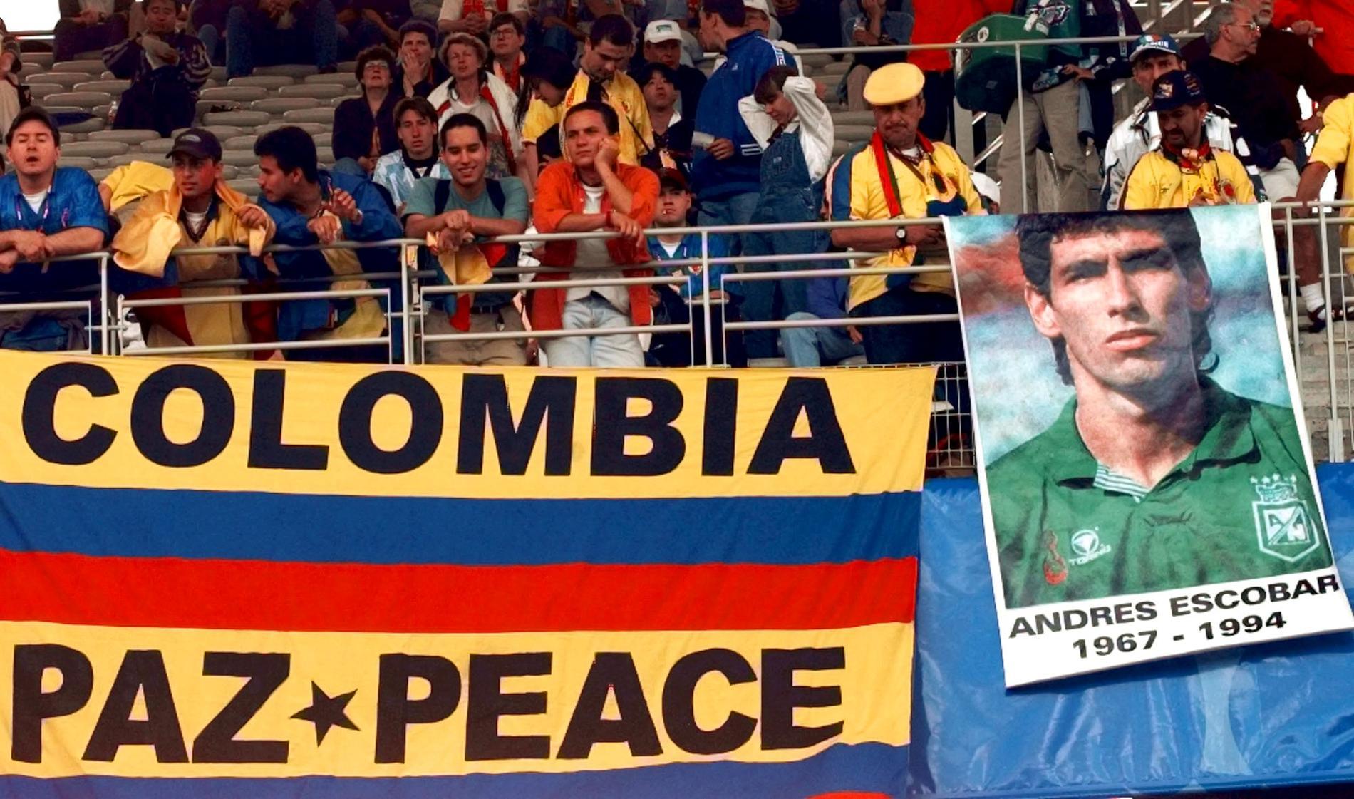 Andres Escobar sköts till döds efter VM 1994.