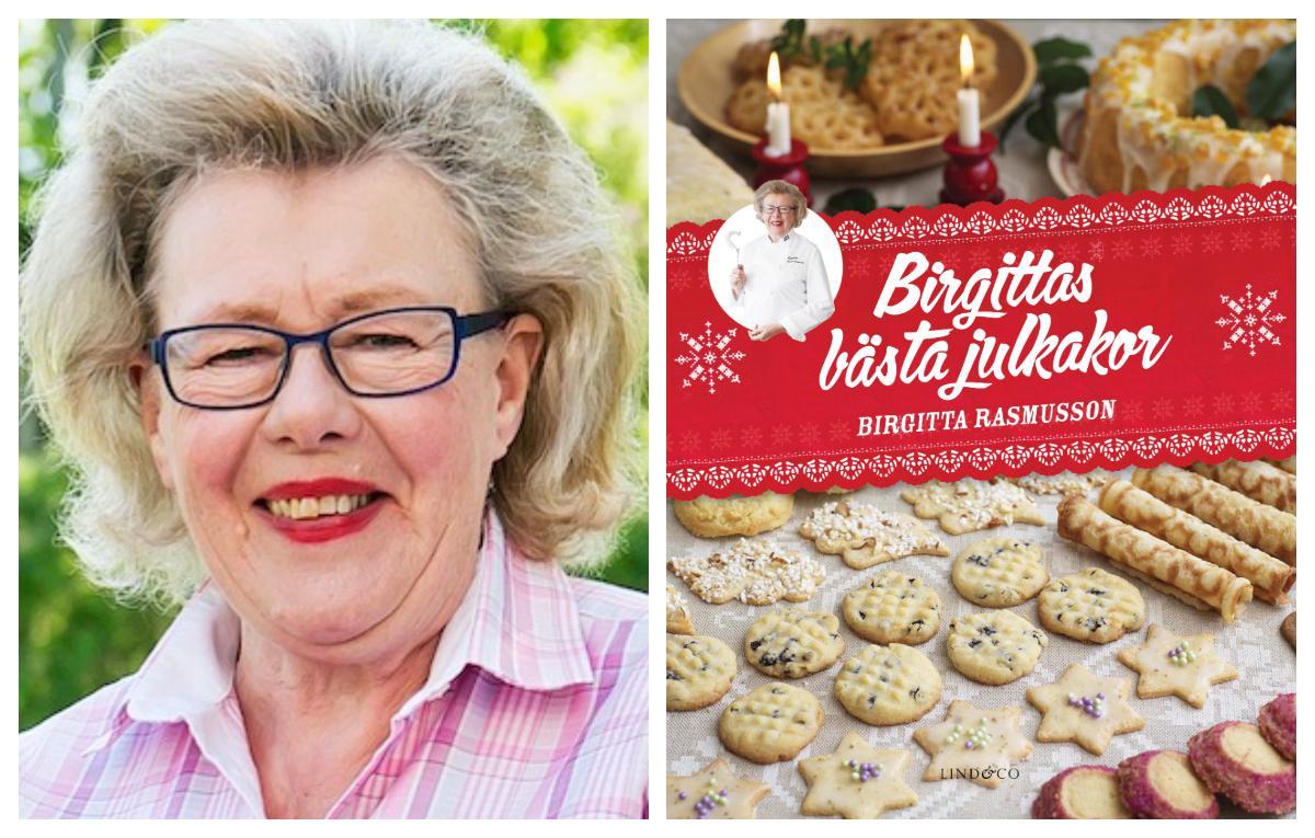 """""""Birgitta Rasmusson har samlat sina favoriter """"Birgittas bästa julkakor""""."""