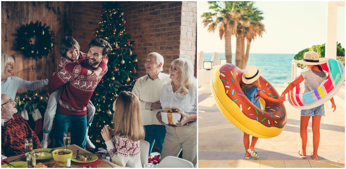 Långledighet under jul och nyår kan innebära både hemmamys eller resor.