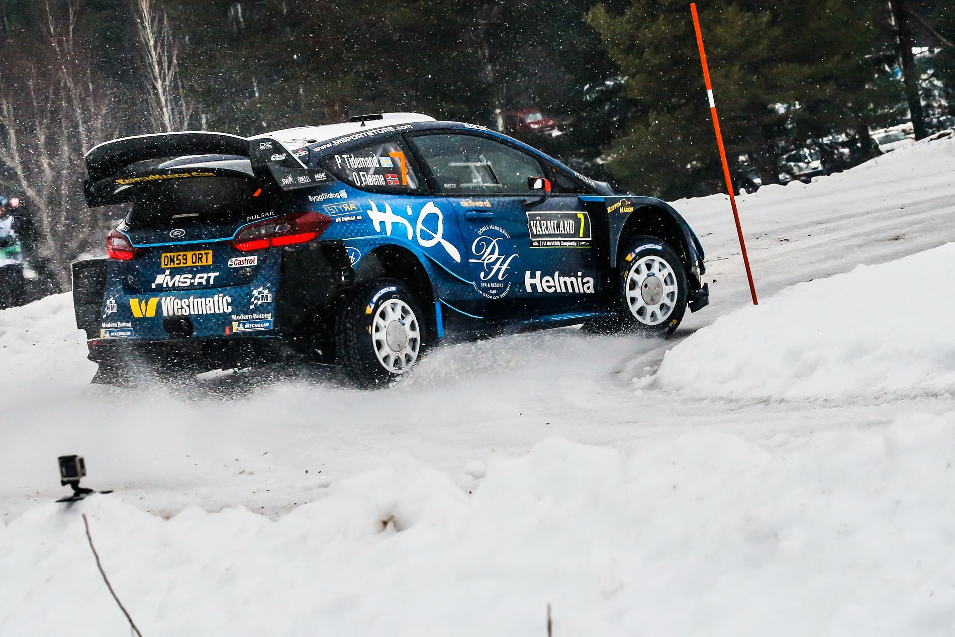 Ott Tänak leder Rally Sweden 2019, Pontus Tidemand  avancerar