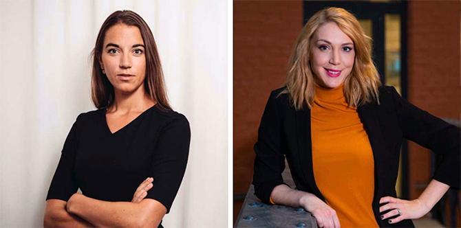 Johanna Kull, sparekonom på Avanza och Frida Bratt, sparekonom på Nordnet.