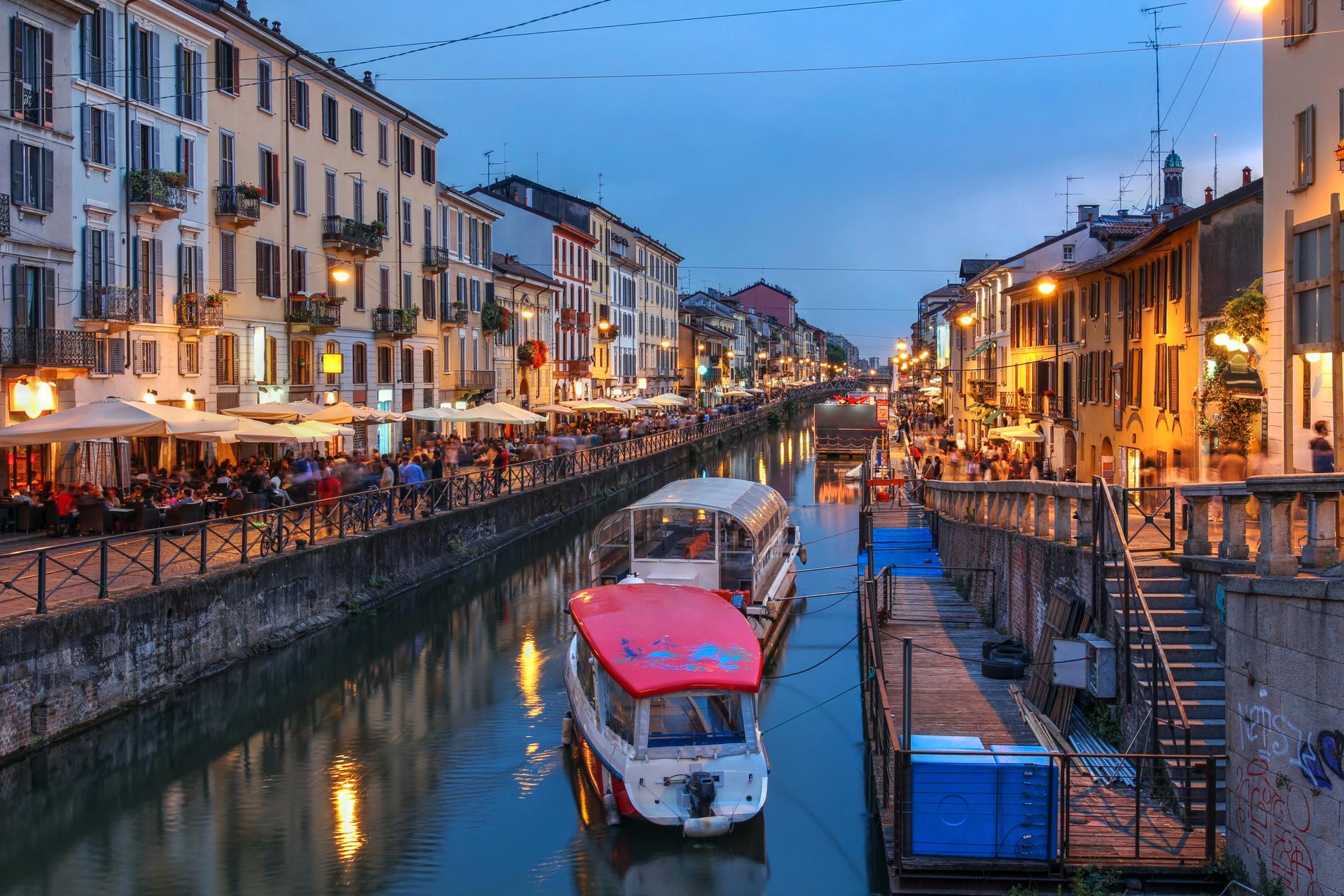 Navilgi är ett livlig område i Milano.