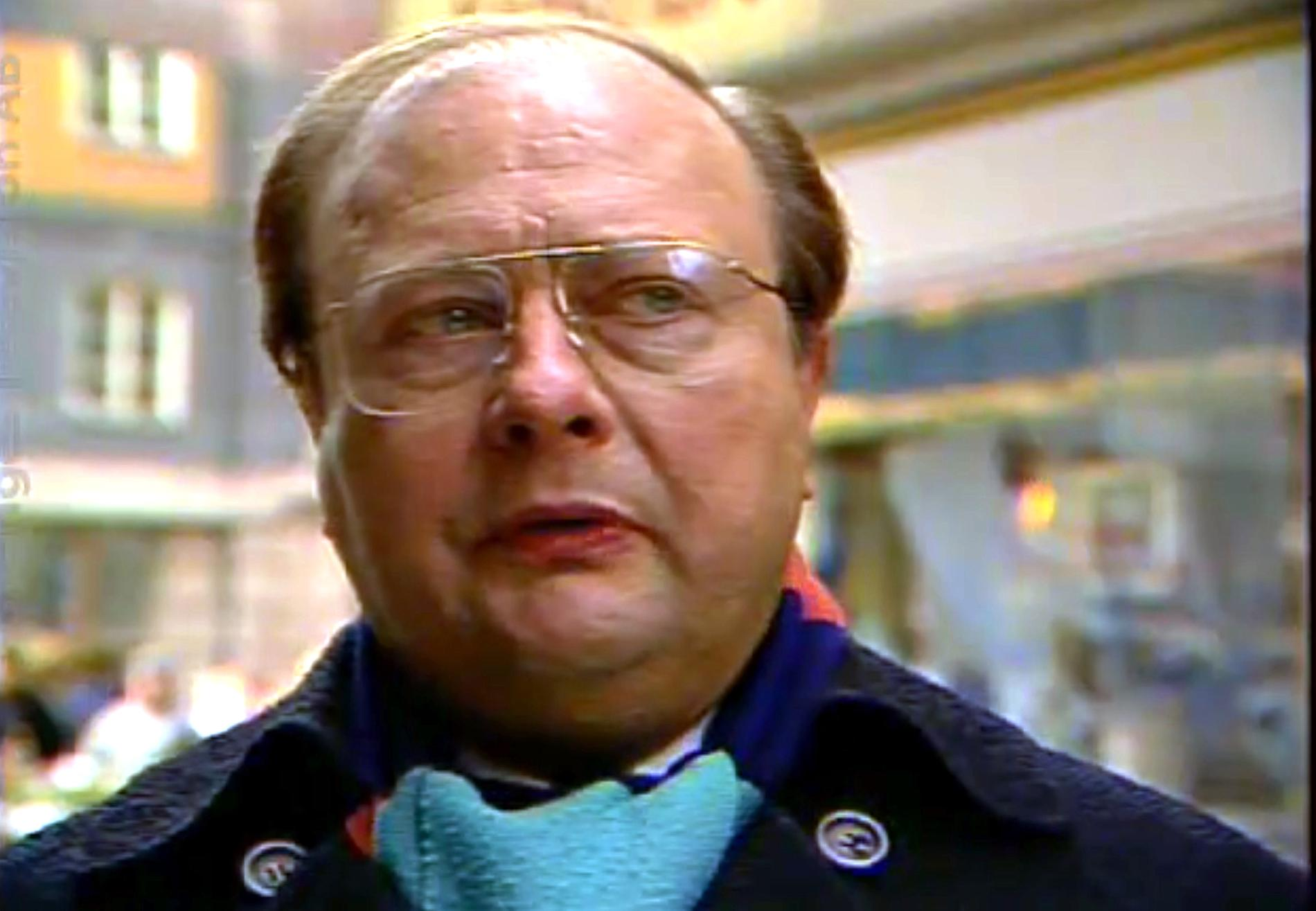 """Stig Engström, känd som """"Skandiamannen""""."""