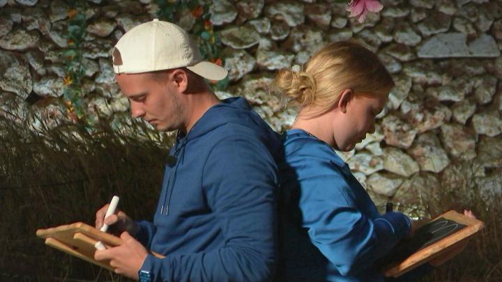 """Matteo Davenell och Felicia Malm i programmet """"Vi eller aldrig""""."""