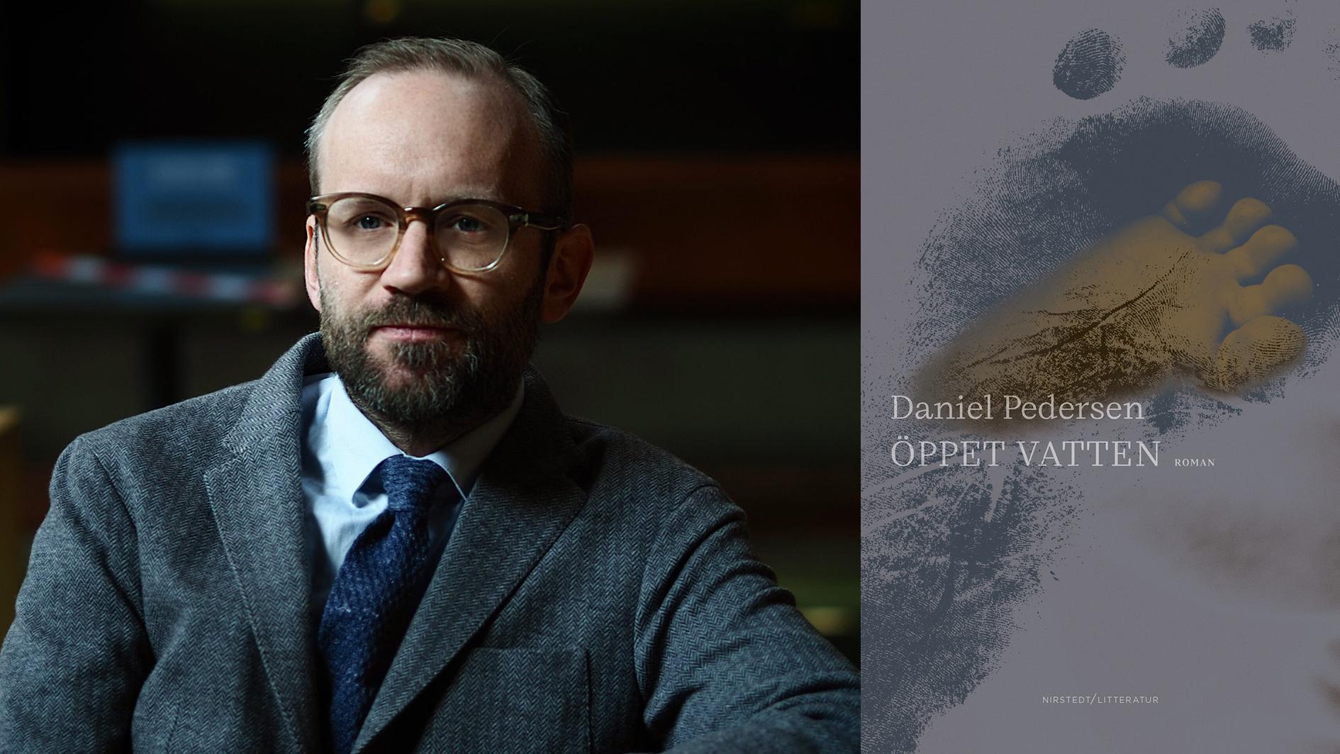 """Daniel Pedersen (född 1978) debuterar som skönlitterär författare med """"Öppet vatten""""."""