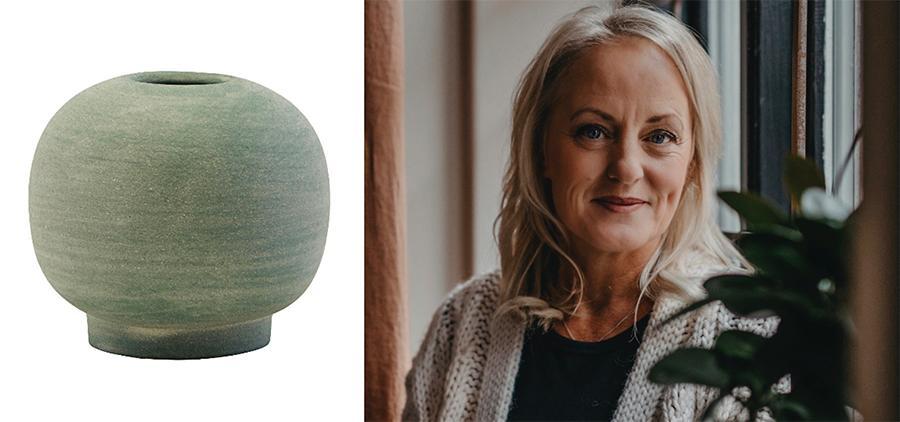 """T v: Vas, 78 kr, Nordicnest.se. """"Mustiga färger är årets trend"""", säger Karin Sjökvist, inköpare och grundare av inredningsföretaget Dakabom."""