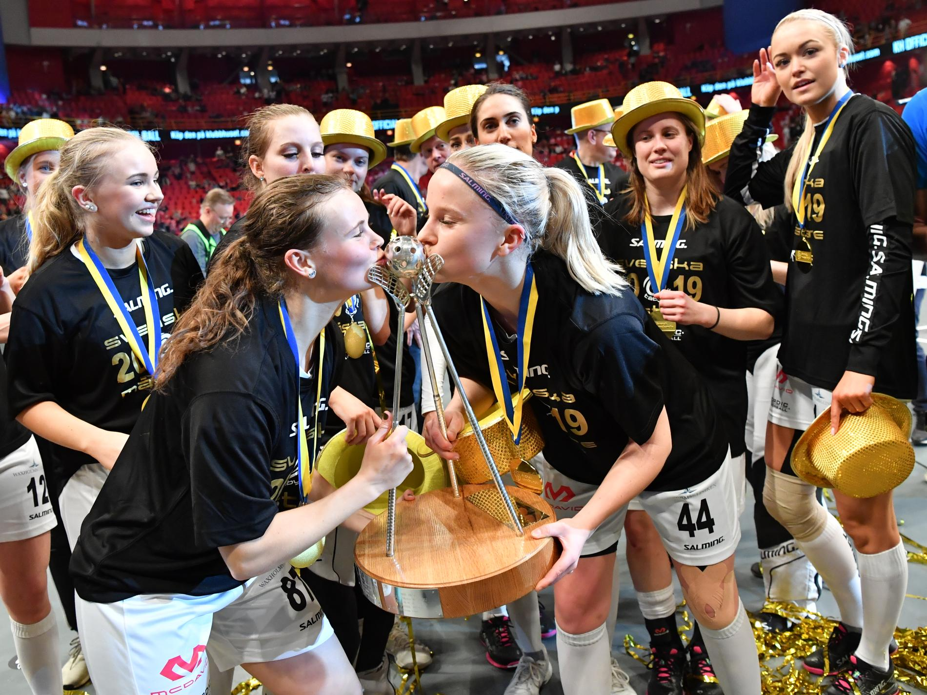 2019 blev Täby svenska mästare. Under de kommande fem åren sänds alla deras matcher på Expressen. Arkivbild.