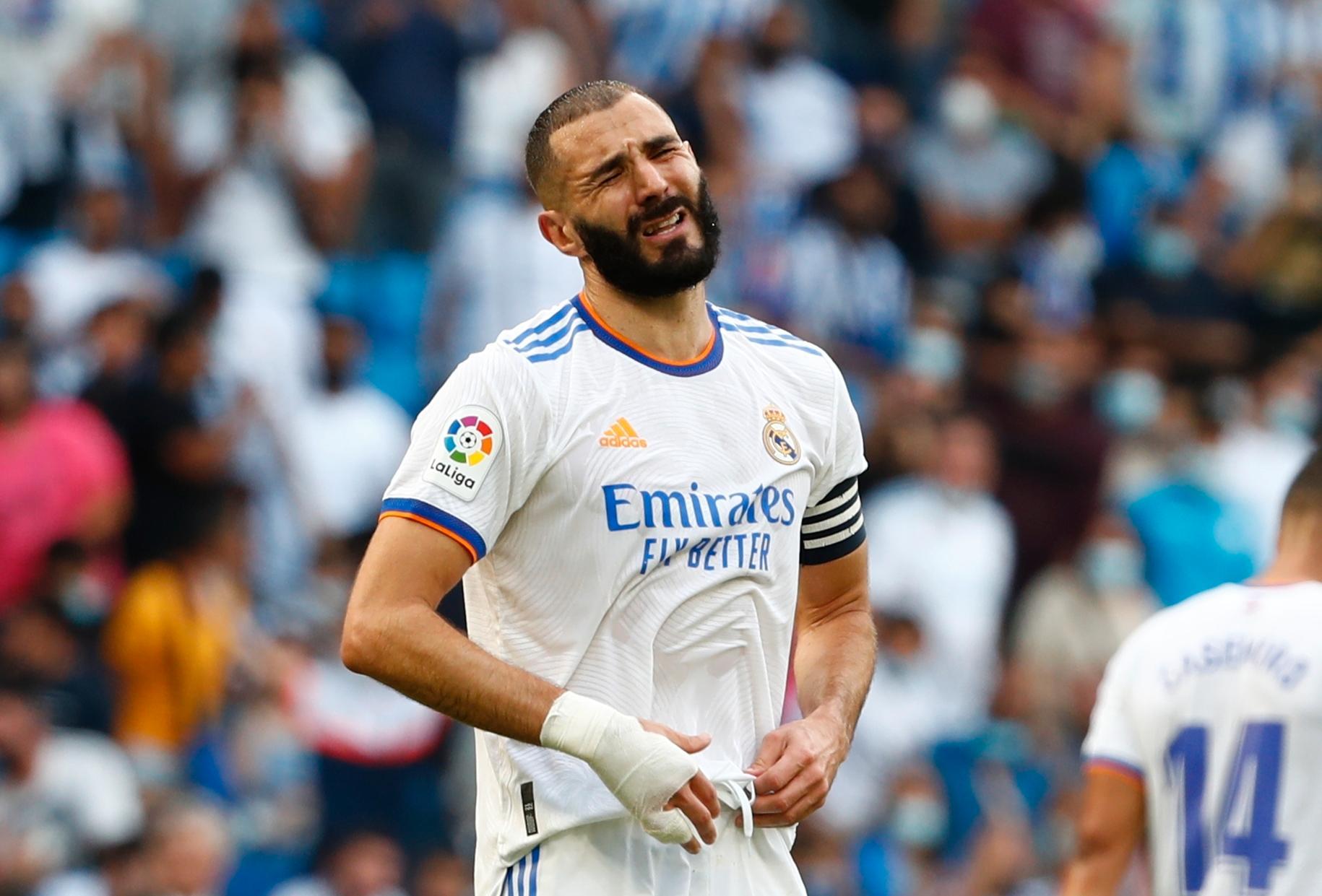 Karim Benzema var besviken efter nya förlusten.