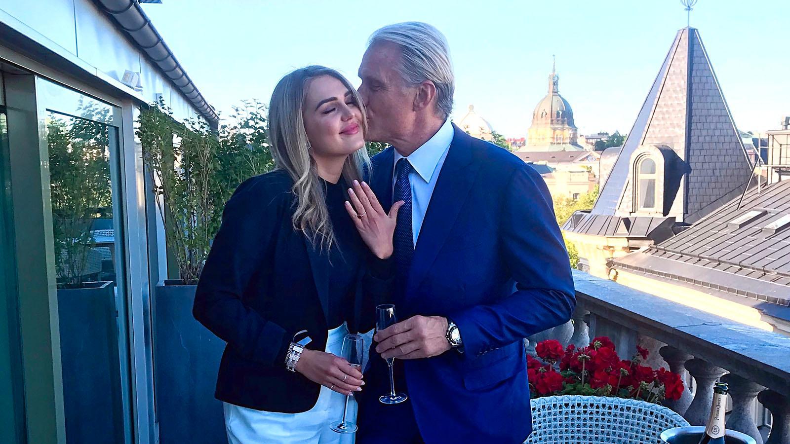 Dolph Lundgren och Emma Krokdal.