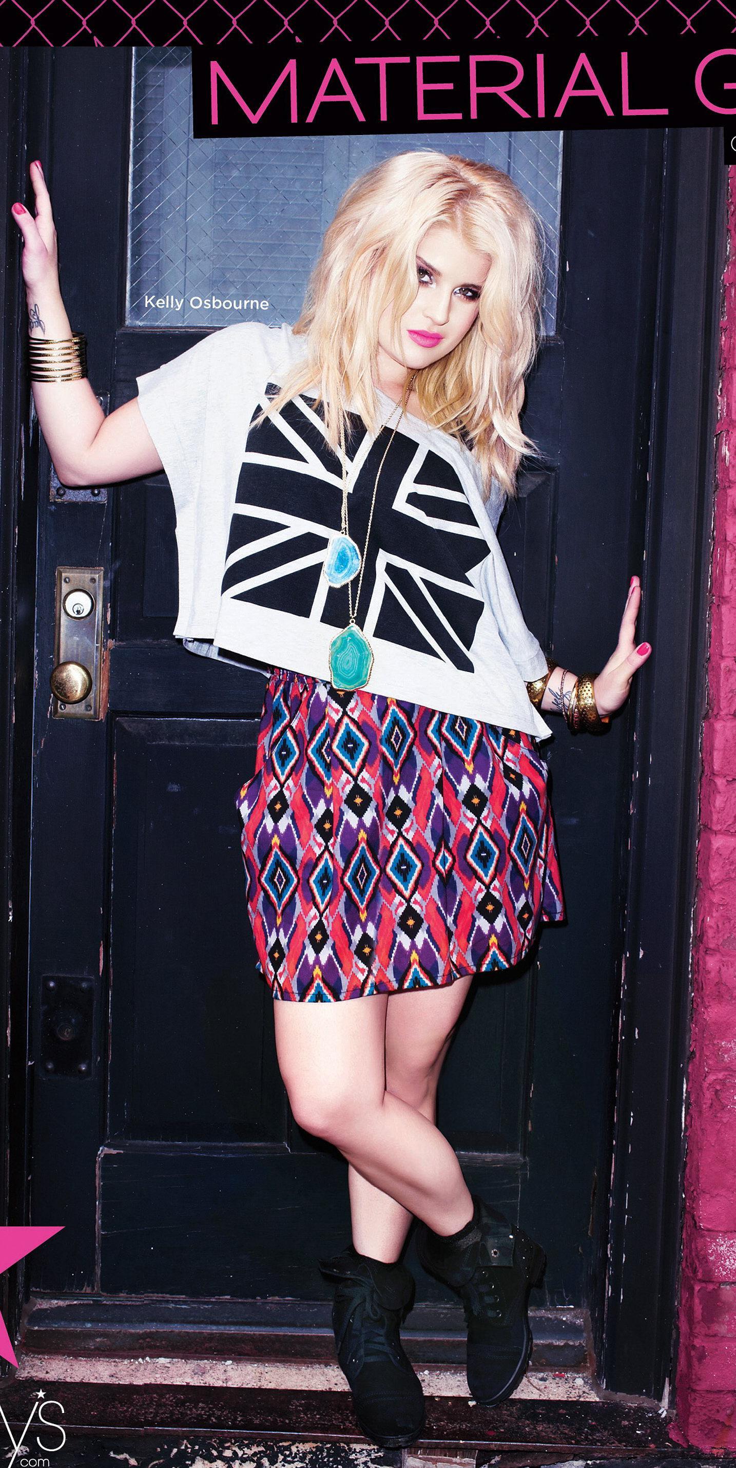 """Material Girl.  Kelly Osbourne för """"Material Girl"""" hösten 2011."""