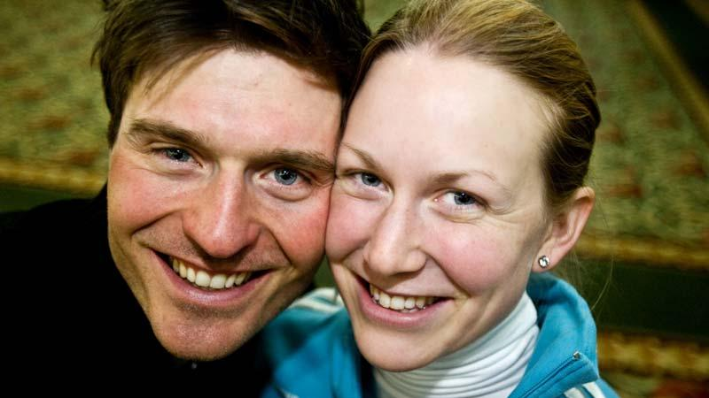 SUPERPARET David Ekholm och Helena Jonsson, två av silverhjältarna i mixlaget i dag.