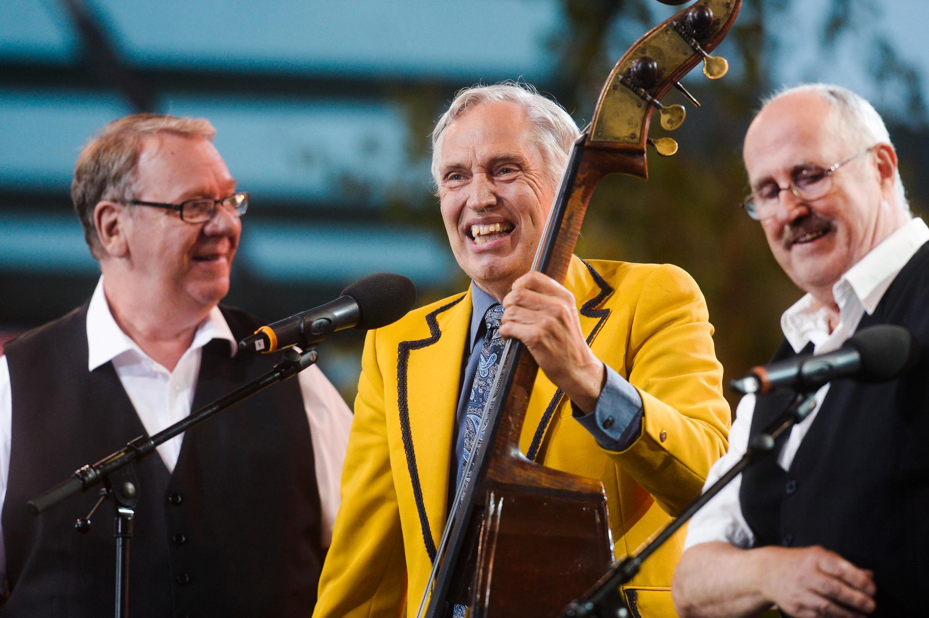 """Vänner i nästan 60 år. Trio me' Bumbas Jan """"Bumba"""" Lindqvist (mitten) berättar om sorgen efter sin vän."""