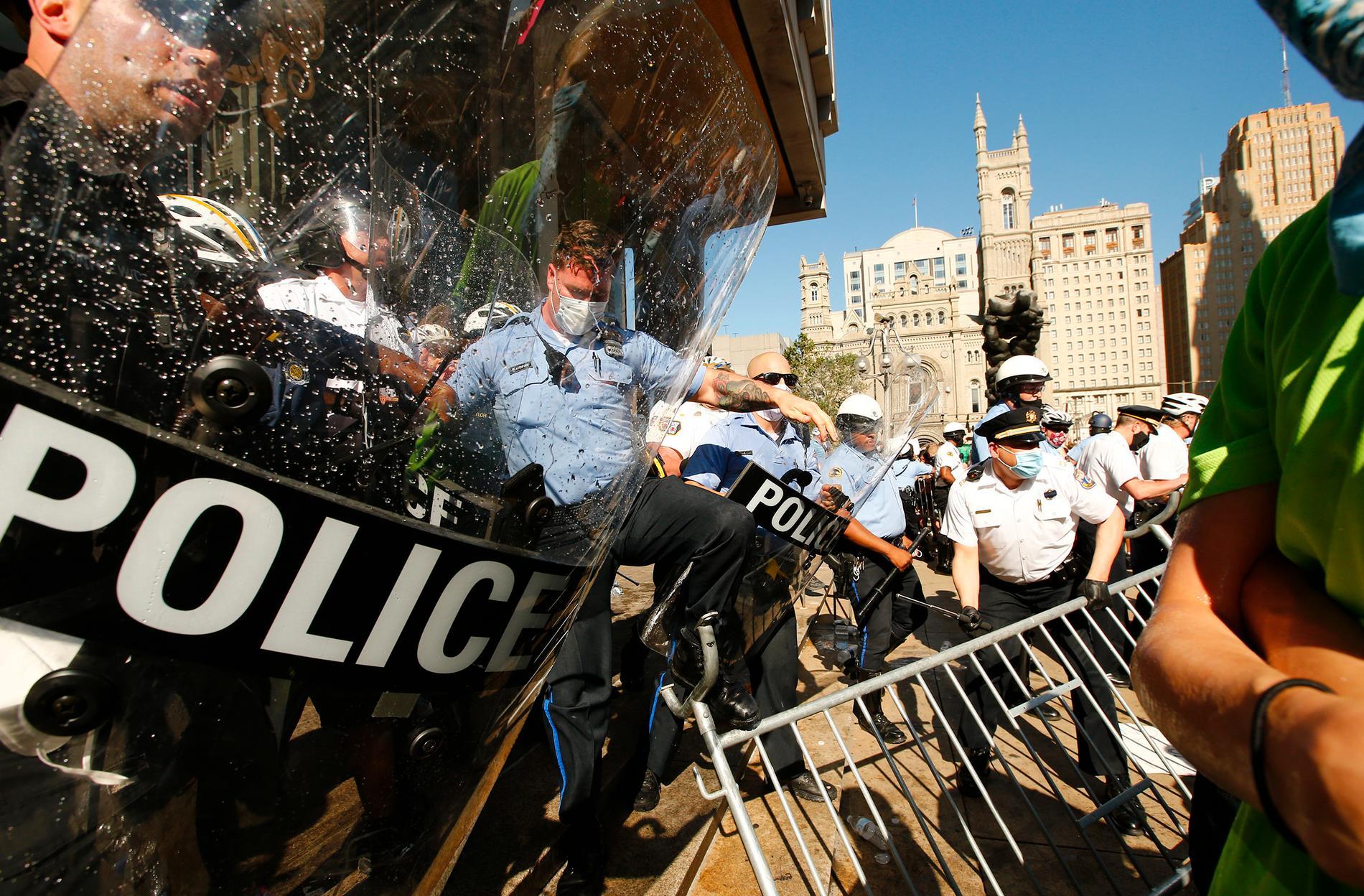 Poliser i Philadelphia.