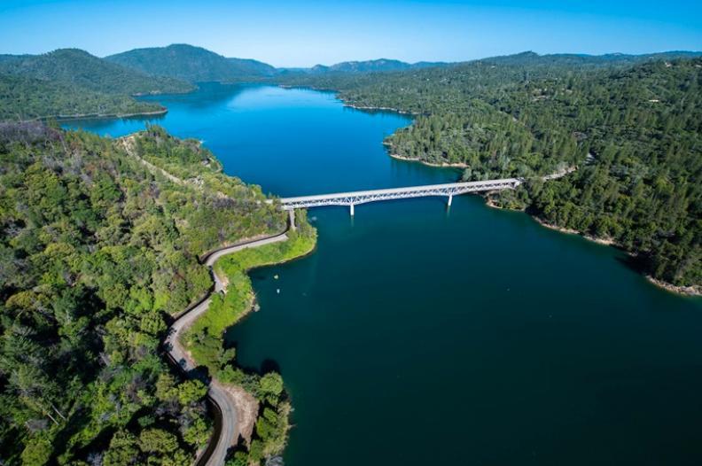 Lake Oroville i Kalifornien 2014.