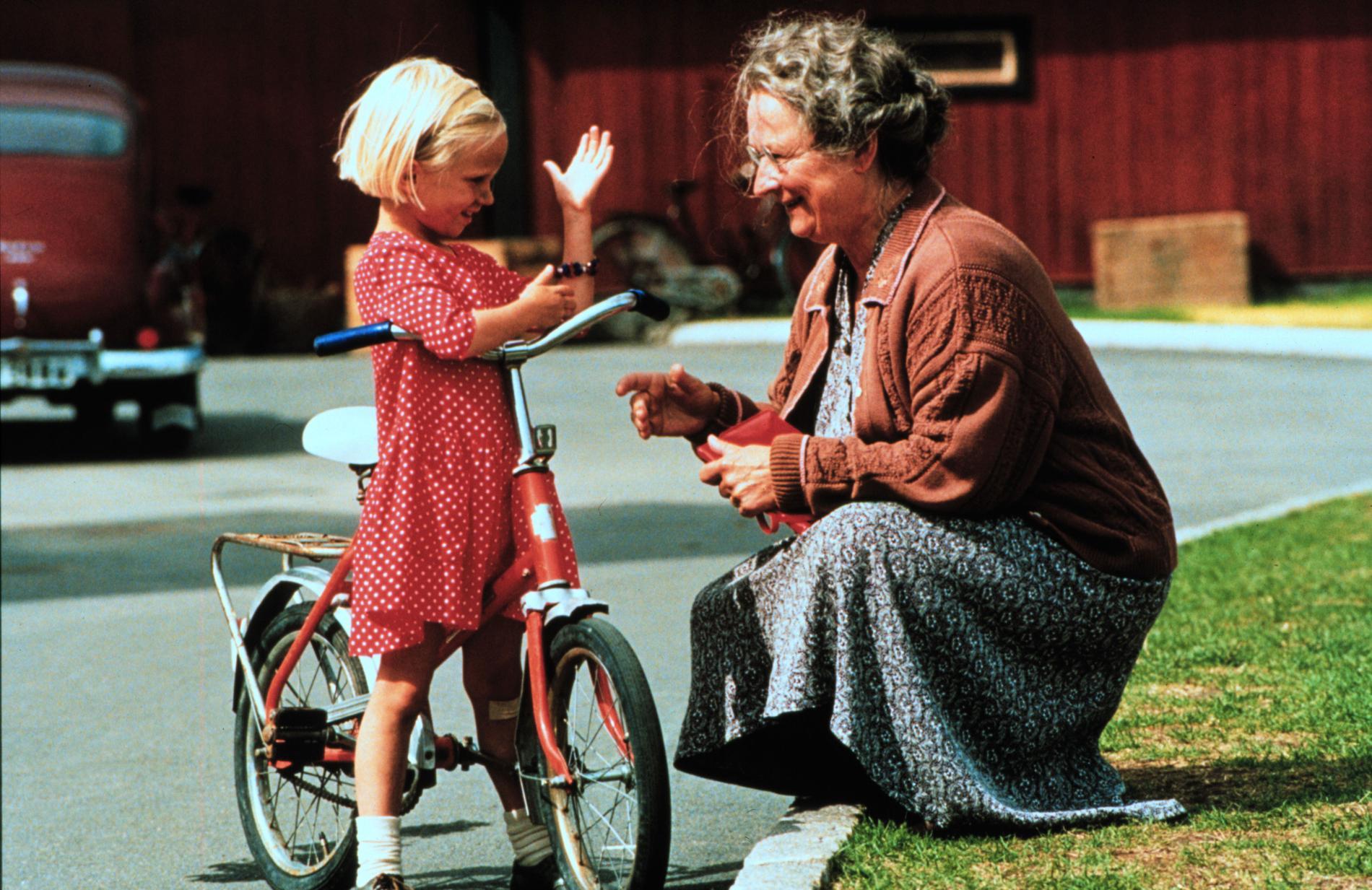 """Tillsammans med Grete Havnesköld i """"Lotta på Bråkmakargatan"""" 1992."""