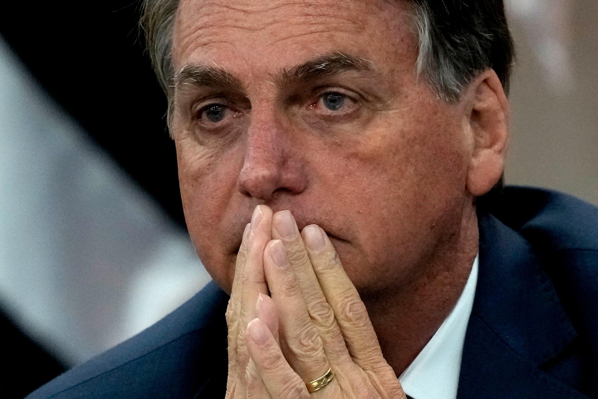 Brasiliens president Jair Bolsonaro ska utredas för sina påståenden om fusk i det kommande valet. Arkivbild.