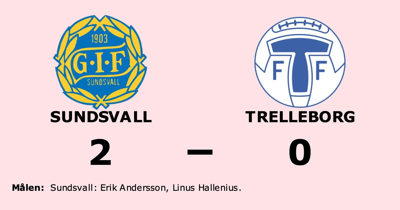Segerraden förlängd för Sundsvall - besegrade Trelleborg