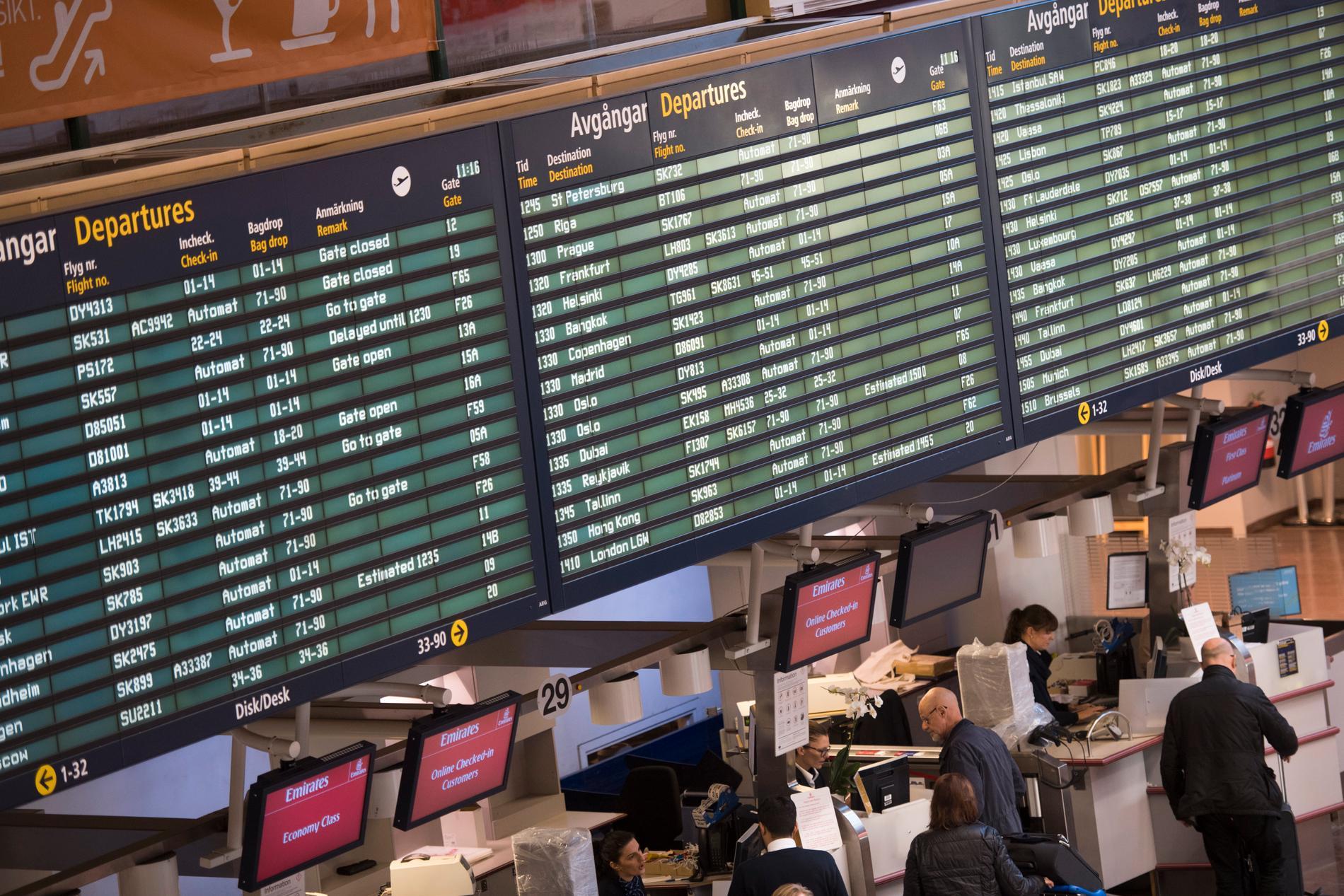 """""""Fler än 90 avgångar från Arlanda i veckan"""", utlovas av Ryanair och Swedavia."""