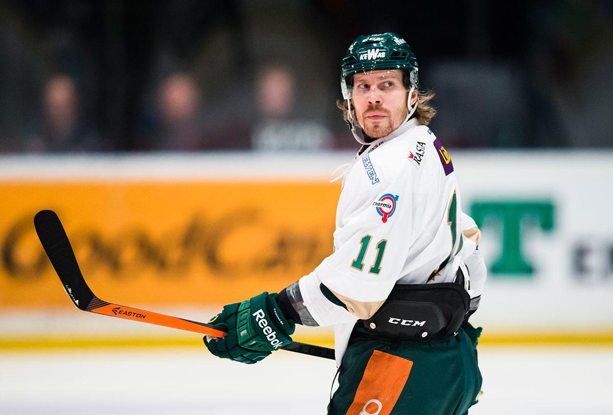 Anssi Salmela har tidigare spelat i Färjestad.