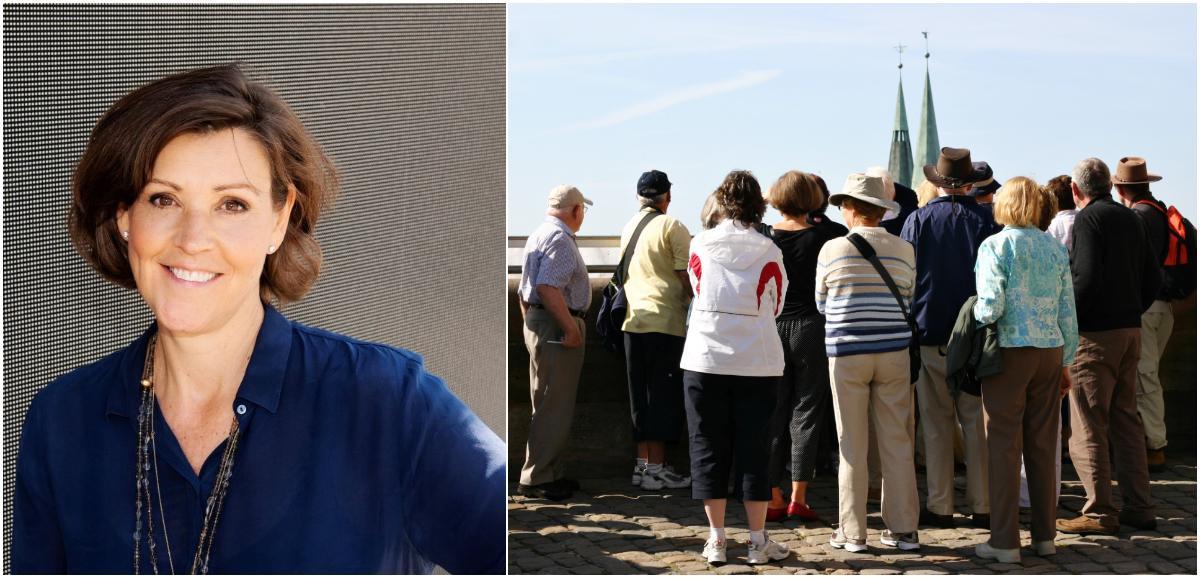 Enligt Lottie Knutson finns det fördelar och nackdelar med turismen.