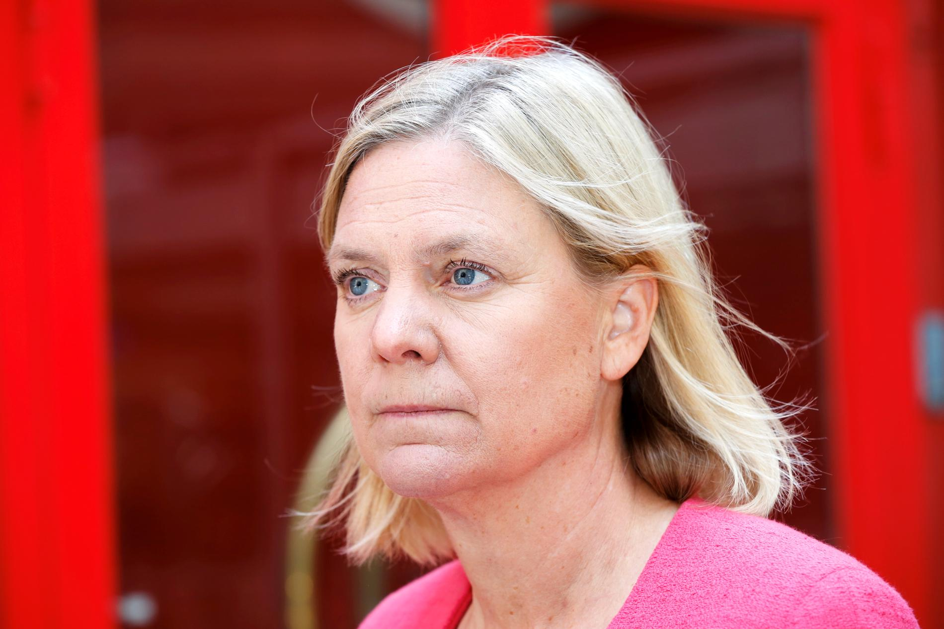 Finansminister Magdalena Andersson (S) går vidare med förslaget om en ny bankskatt. Arkivbild.