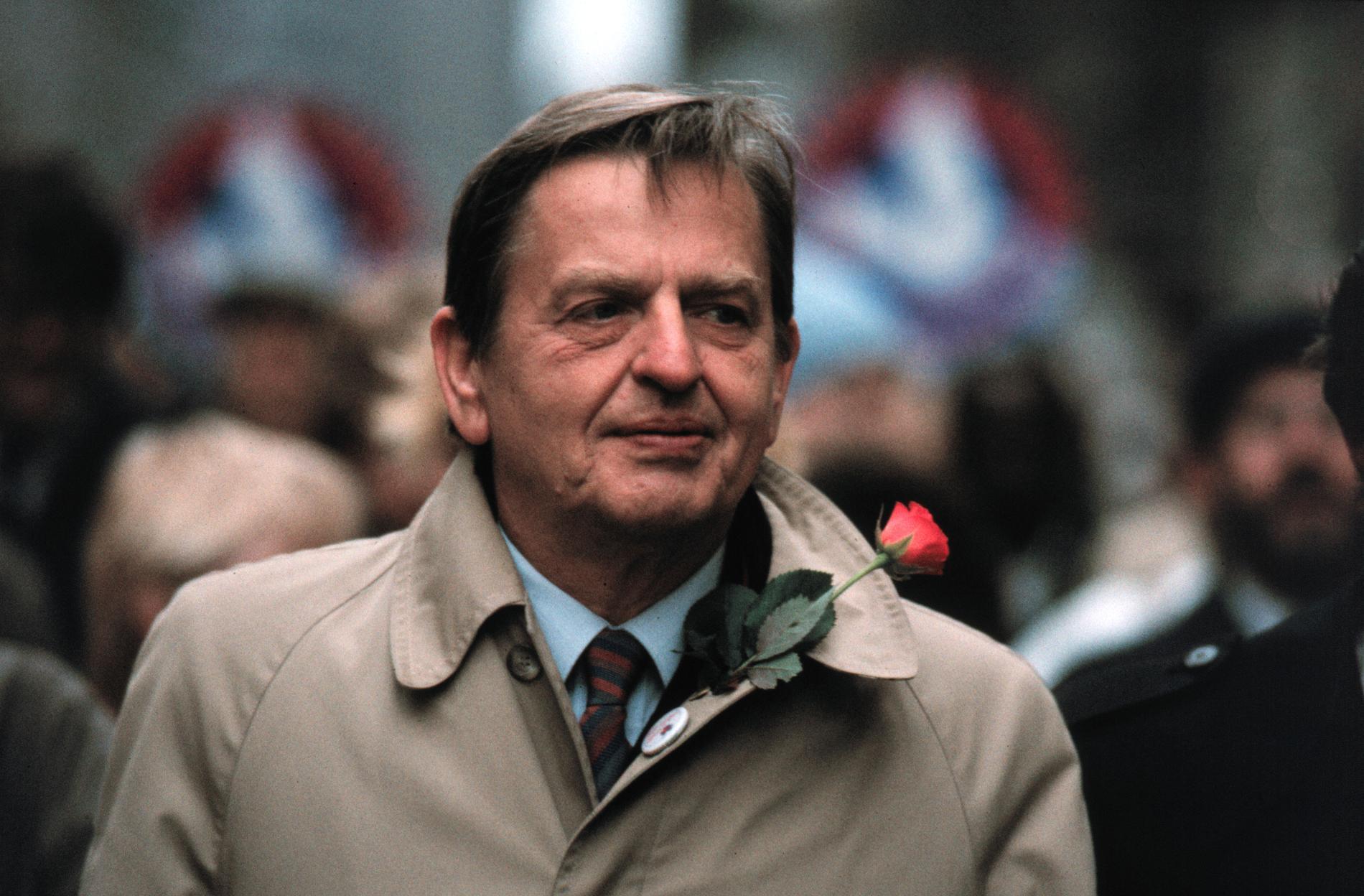Olof Palme den 1 maj 1985.