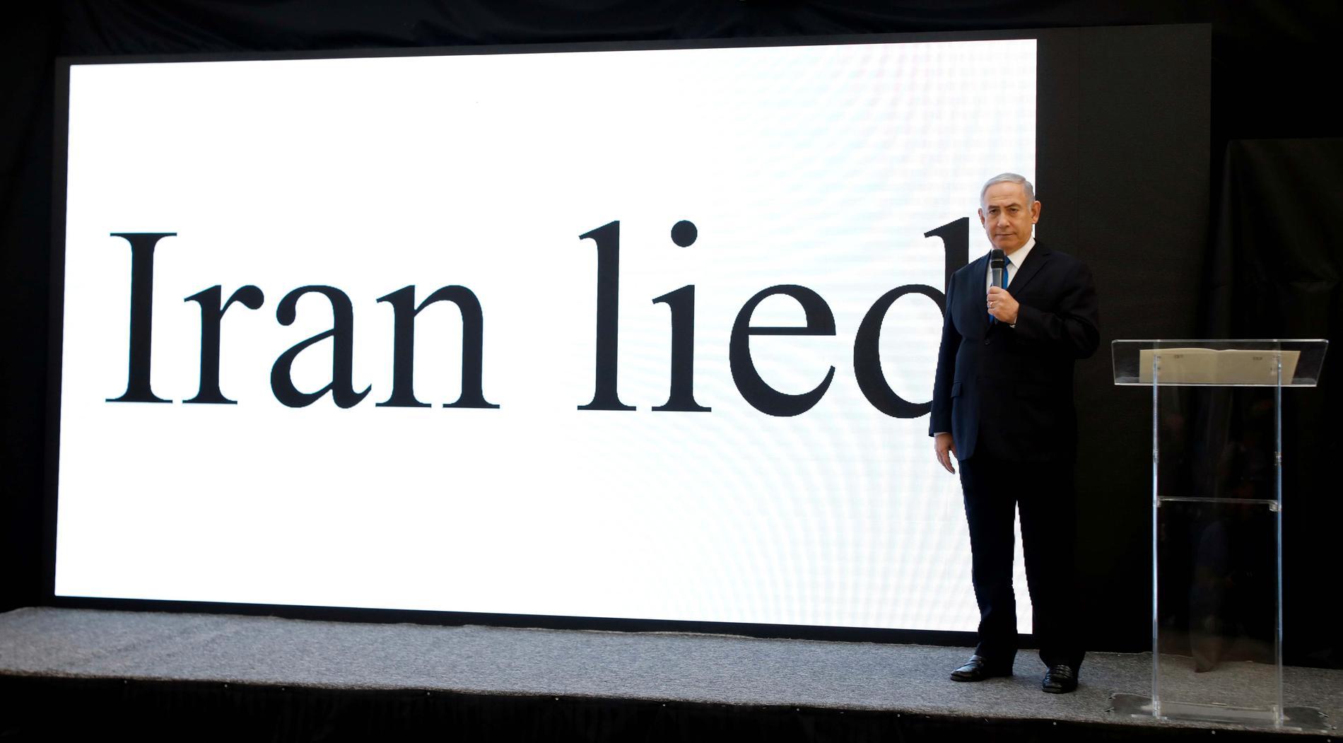 Benjamin Netanyahu presenterar bevid