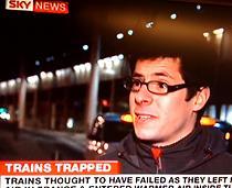 """En passagerare pratar med Sky News efter att ha tillbringat hela natten fast i tunneln mellan England och Frankrike. """"Det var fruktansvärt"""", säger han."""