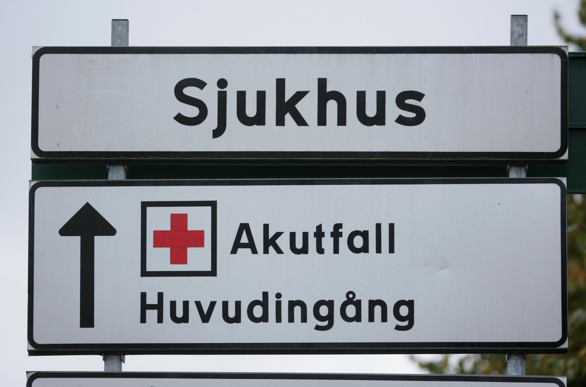 Sunderby sjukhus drabbades av en jätteläcka på söndagskvällen. Arkivbild.