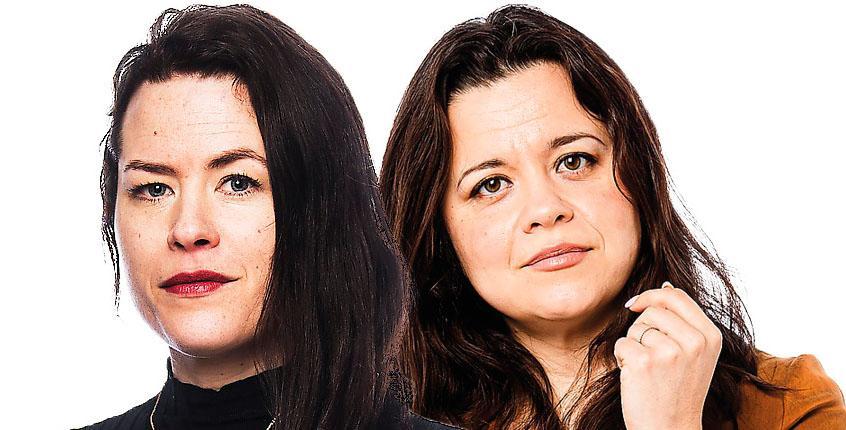 """Liv Strömquist och Caroline Ringskog gör """"En varg söker sin pod"""" tillsammans."""