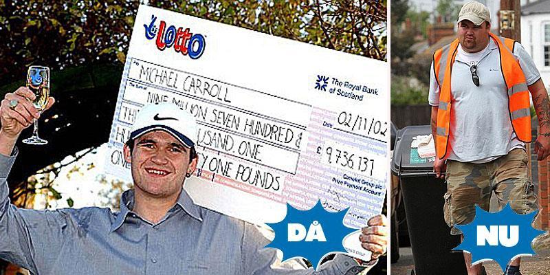 FESTEN ÄR ÖVER Michael Carroll satte sprätt på 110 miljoner – nu vill han ha tillbaka sitt gamla jobb som sopgubbe.