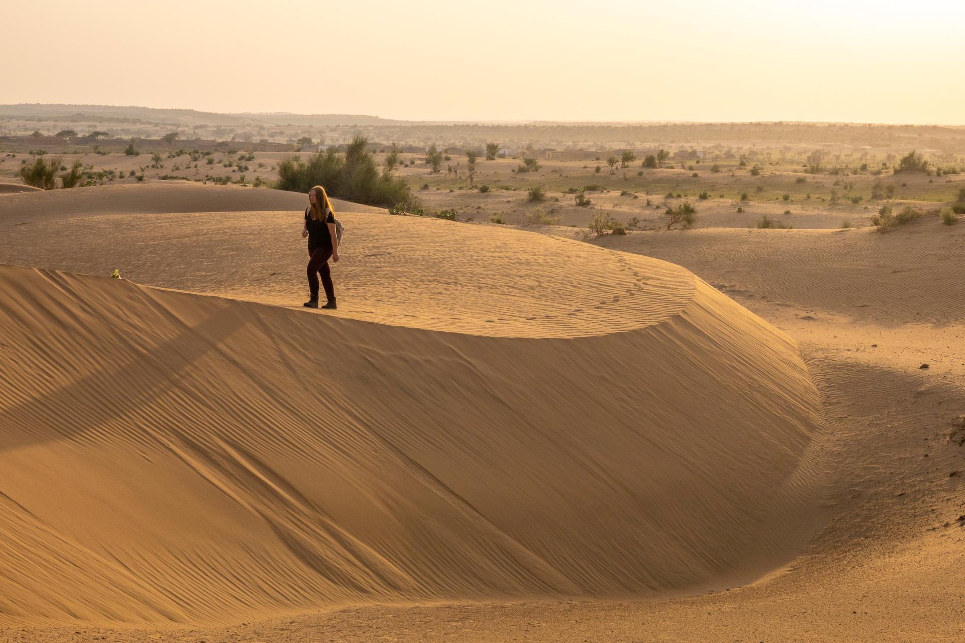 I Rajastan finns det en hel del öken.