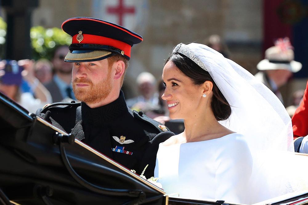 Harry och Meghan gifte sig den 19 maj 2018.