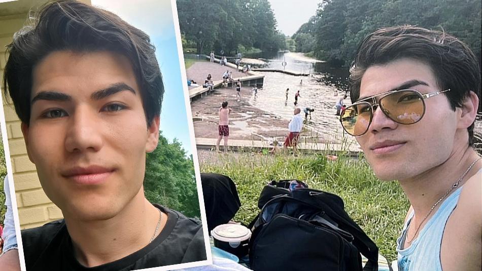 Milan Nabizadeh, 23, räddade en pojke från att drunkna vid det populära Storvadsbadet vid Fyrisån, i Gamla Uppsala.
