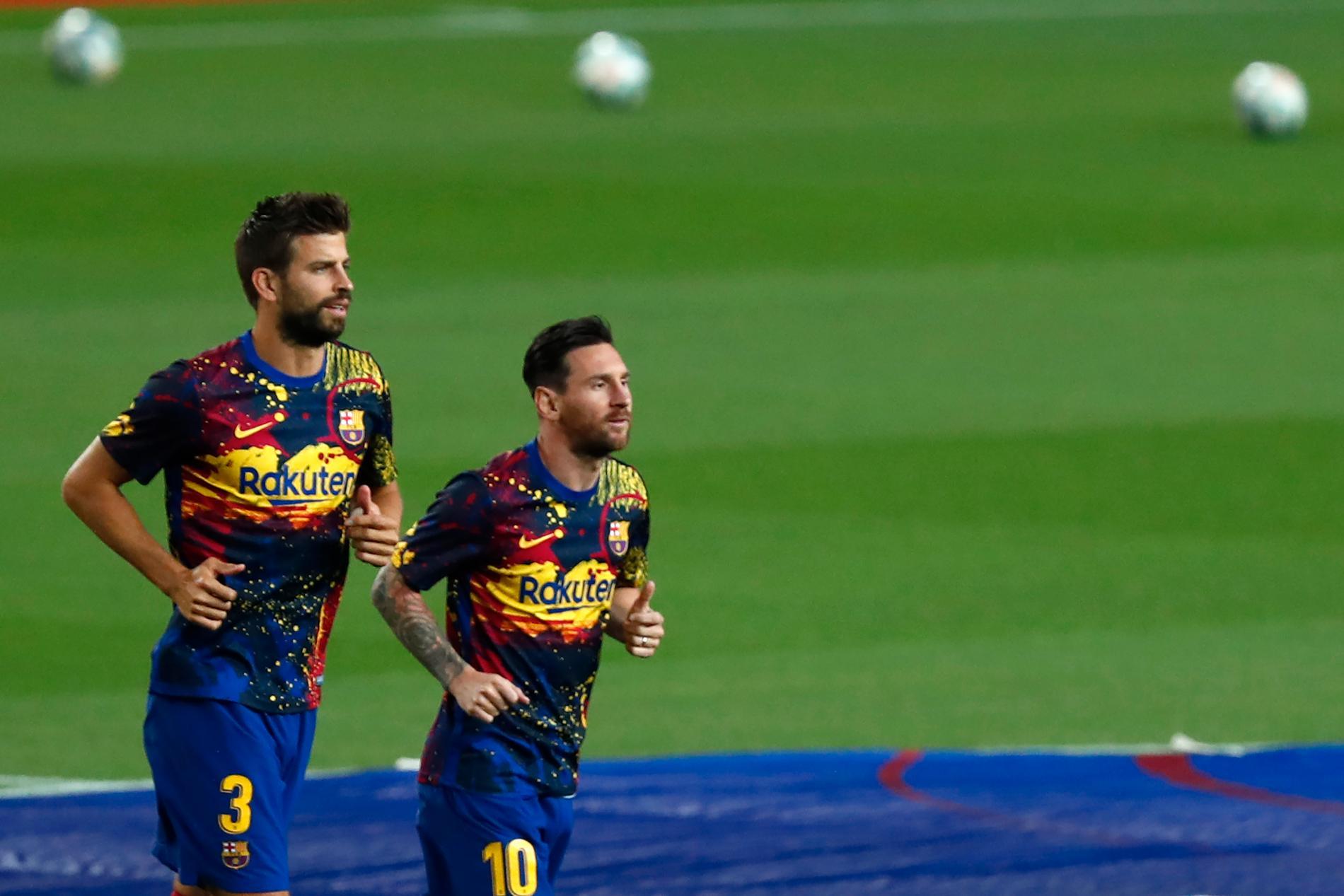 Gerard Piqué och Messi