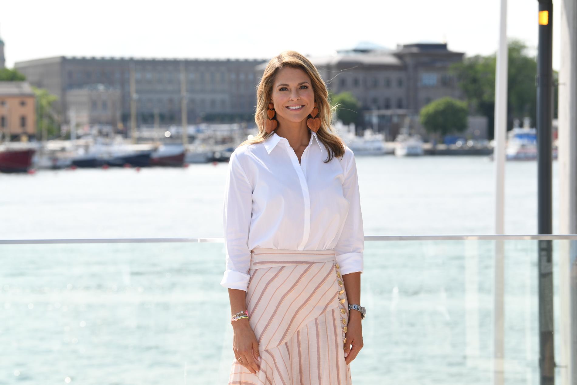 Prinsessan Madeleine under ett tidigare besök i Stockholm. Arkivbild.