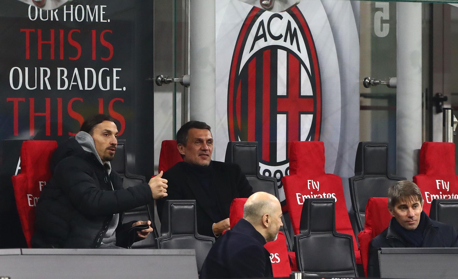 Zlatan med pappa Paolo Maldini.