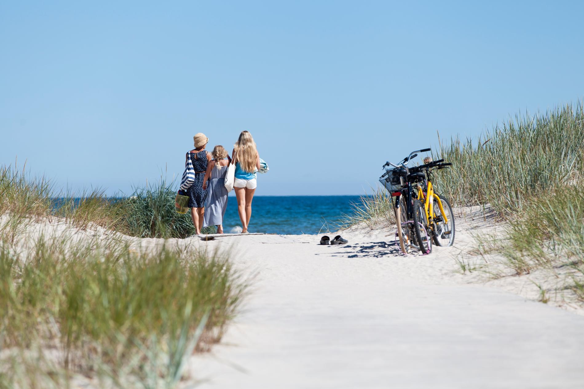Stranden vid Böda sand är två mil lång.