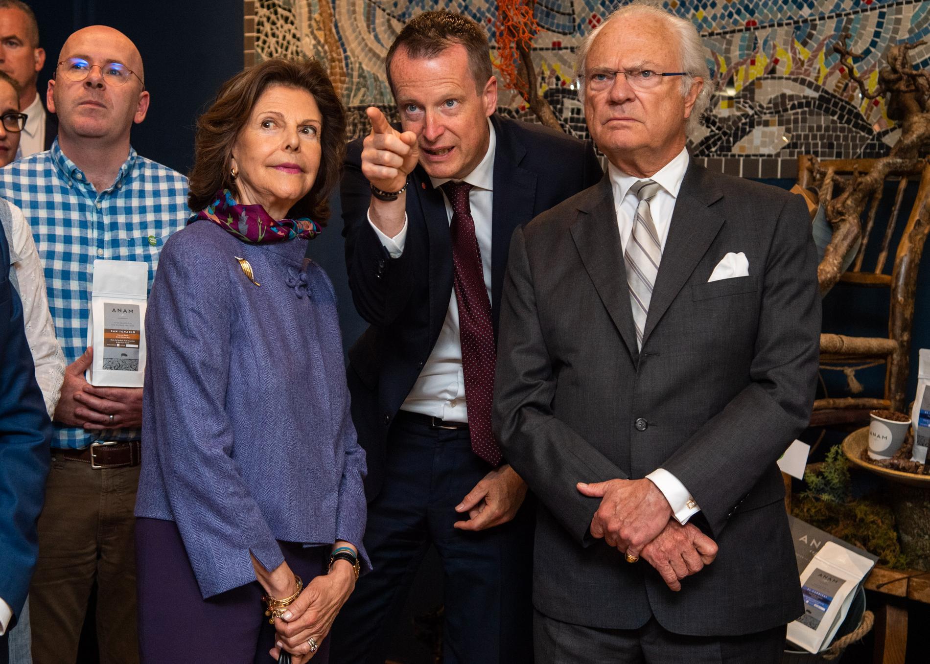 Kungen och drottningen fick frågor om Greta Thunberg under besöket på Irland.