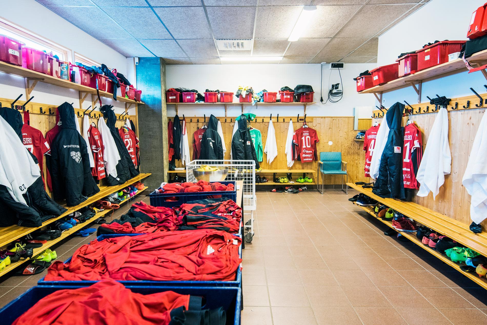 Östersunds omklädningsrum innan omgörningen