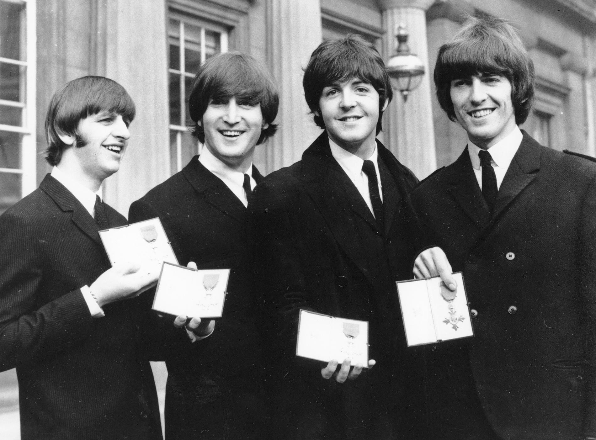 The Beatles 1965 (fr. v. Ringo Starr, John Lennon, Paul McCartney och George Harrison).
