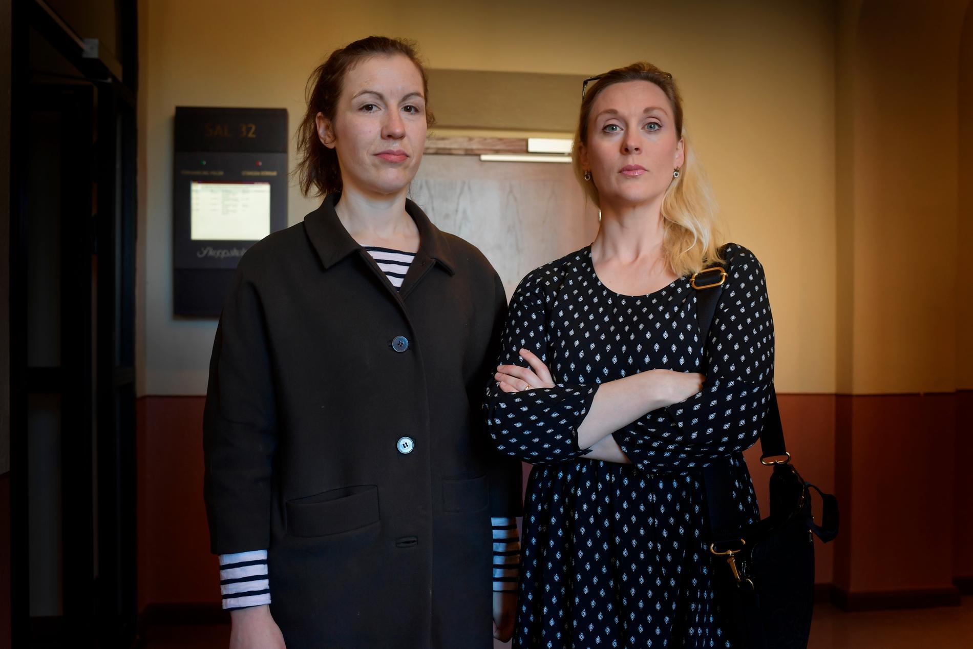 Aftonbladets Lisa Röstlund och Lisa Bjurwald
