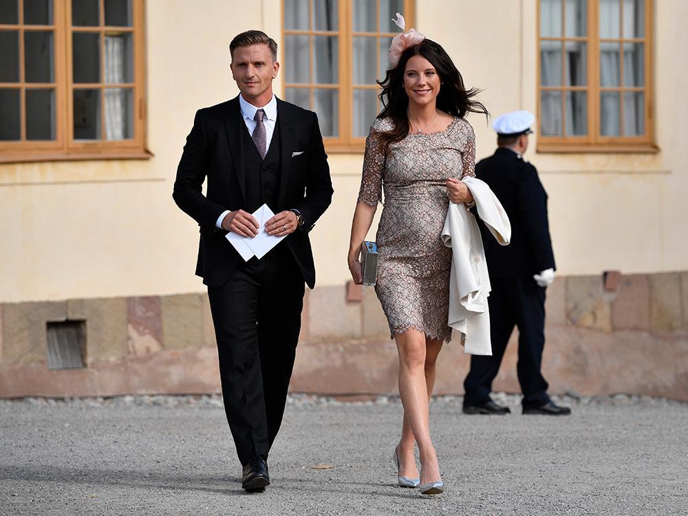 Johan och Stina Andersson är faddrar till prins Julian.