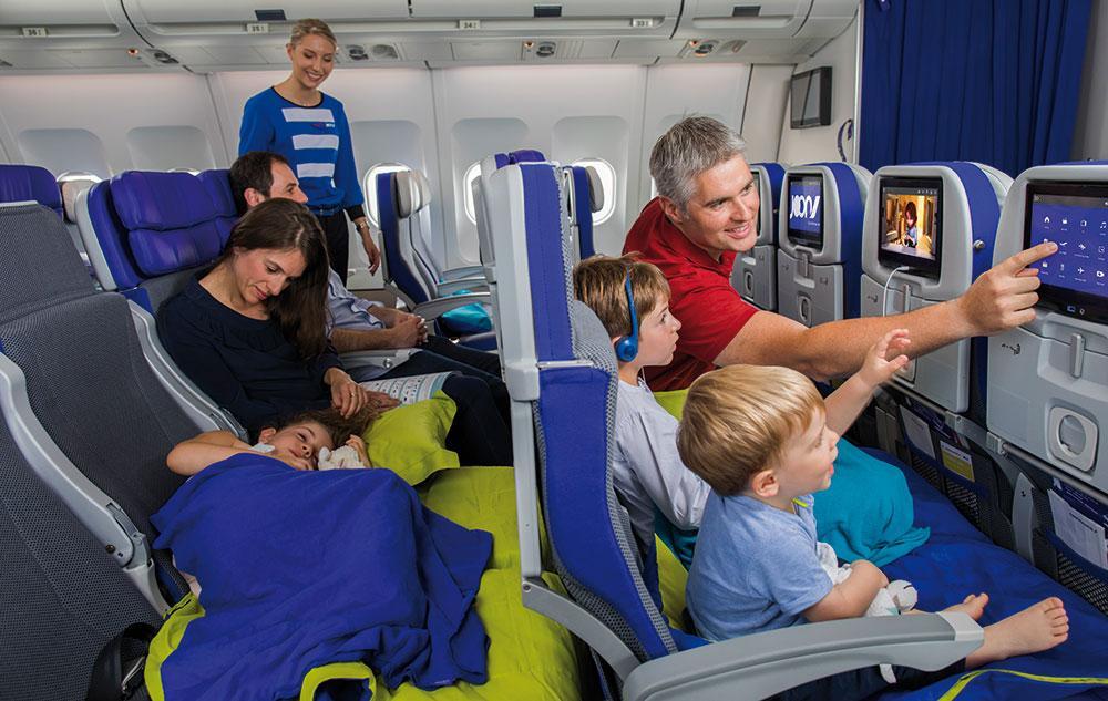 Air Frances lågbudgetbolag Joon inför flygsoffor till familjer.