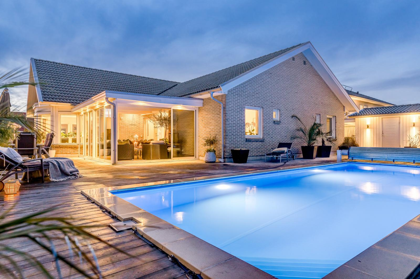 Villa med pool i Bunkeflostrand.