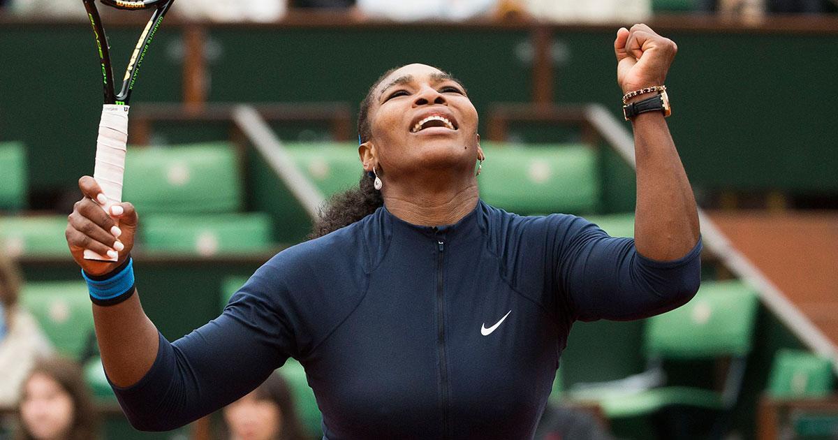 Serena Williams vann efter visst besvär.